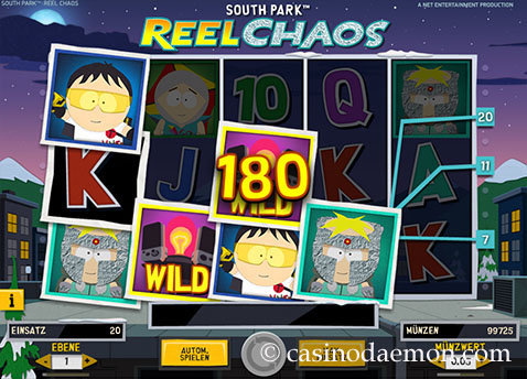 south park reel chaos spielautomat
