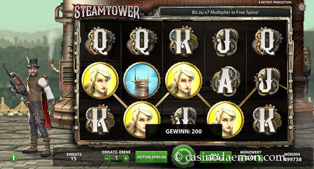 steam tower spielautomat
